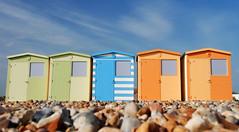 Beach huts @ Seaford (Malcolm Bull) Tags: park color colour beach digital downs sussex photo nikon colorful colours image south shingle east huts hu