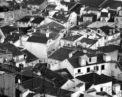 The mess (Sandra_R) Tags: city houses windows blackandwhite bw portugal architecture outdoors photography mess exterior lisboa lisbon santaluzia roofs ornate viewpoint confusion urbanscenes pretobranco anawesomeshot