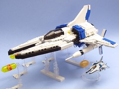Vic Viper T-301 from Gradius V (peterlmorris) Tags: game toy fighter lego moc starfighter gradius vicviper vicvipert301