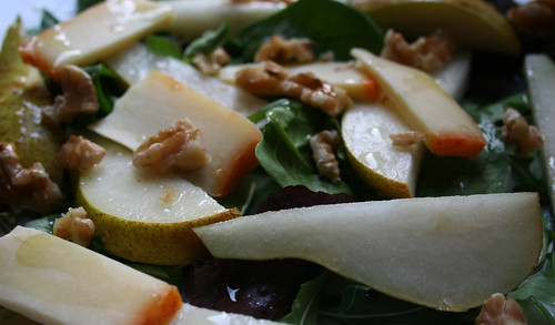 Pear Cheese Walnut Salad 1
