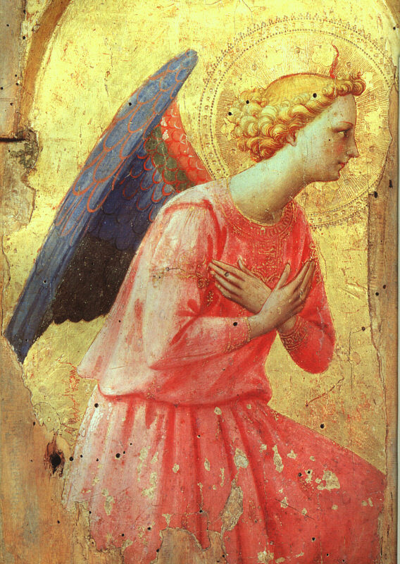 ANGELICO, Fra (Studio of) Adoration of an Angel, early 1400s