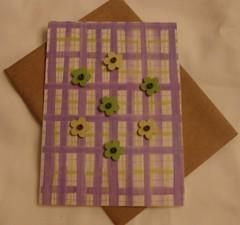 Purple Plaid Notecard