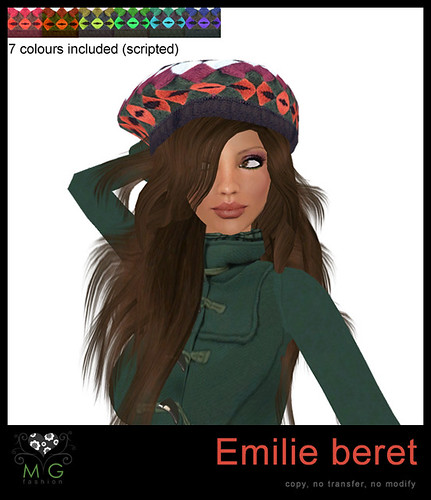 [MG fashion] Emilie beret (scripted)