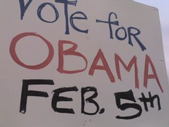 Obama Super Tuesday Poster (alist) Tags: alist cambridgemass obama cambridgema 02139 robison alicerobison ajrobison