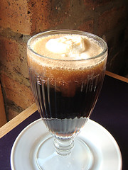 Coca Cola ice cream float at S Luca of Musselburgh, Edinburgh