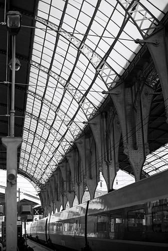 train station, France