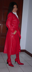 Long red Siricco Coat and boots (johnerly03) Tags: leather fashion boots coat skirt filipina erly