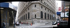 Federal Reserve Bank of New York Building panorama