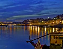 Nightscape (luisa_m_c_m_cruz) Tags: longexposure sunset sky portugal river lights pim porto douro after firstquality pffg cloudsportugal