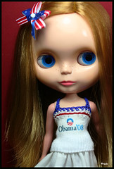 Another Blythe for Obama! (rockymountainroz) Tags: nike takara obama limitededition ebl squeakymonkey neoblythe courtneytezbynike secondanniversarydoll blythesocdcloset