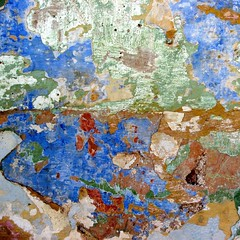 Hesitations (Anne*) Tags: blue red white color green texture colors wall rouge paint couleurs cuba vert peinture bleu trinidad abstraction choice crumble coats ochre 2008 mur blanc couleur ocre craquelure dcrpitude choix couche hesitations ladrivedescontinents annedhuart