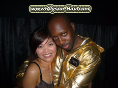 Alyson Hau and Wyclef Jean