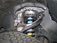 Front coil with spacer installed.