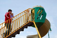 A very tall slide