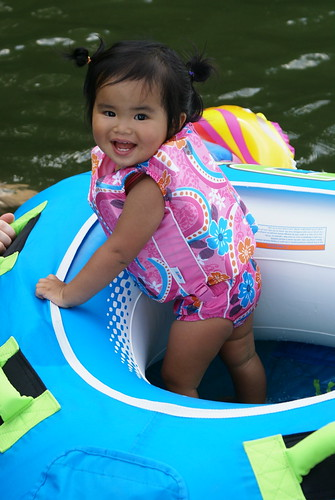 Sophie Le enjoying her little boat!