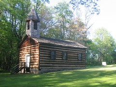 Old log church