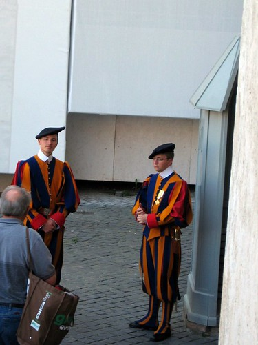 Swiss Guards in Vatican City.