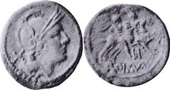 85/0 Denarius Roma Dioscuri H Roma Dioscuri Denarius