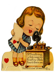 Valentine_tatteredandlost (T and L basement) Tags: ephemera secretary greetingcards valentinecards vintagevalentines antiquecards mechanicalvalentine