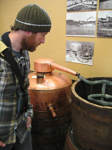 Ade checks out the illicit still