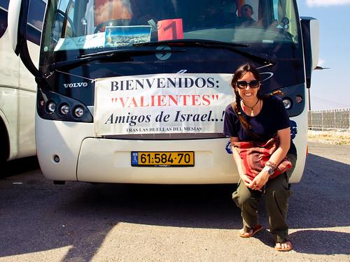 Autobús turístico en el Monte de los Olivos