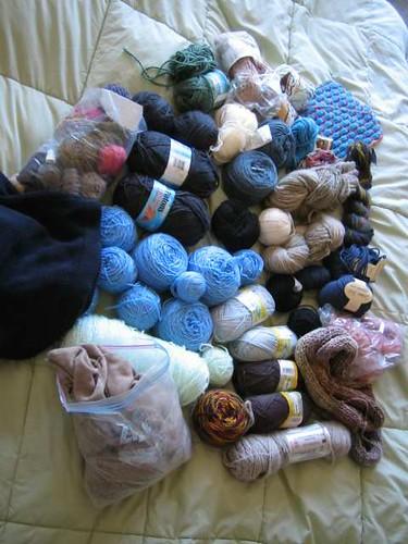 yarn stash - random bits