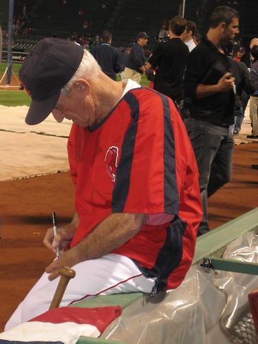 Johnny Pesky Signing Balls