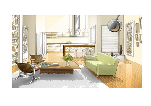 Living room set design