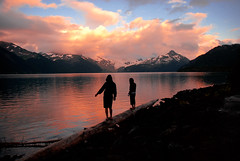 Sunset Silhouettes (JMaddox) Tags: sunset lake canada mountains nature silhouette landscape nikon britishcolumbia clam 1870mmf3545g planet nikkor dslr relaxed garibaldi 1870mm peacefulness nikkor1870mm d80