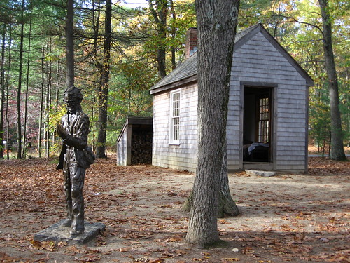 Thoreau Statue and House