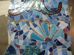 """detail of """"underwater"""" (Moe's Ache) Tags: mural mosaic cappi"""