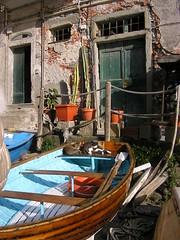 D'azzurro (castelli_sabbia) Tags: sea italy barca italia mare liguria porto cinqueterre rocce azzurro riomaggiore