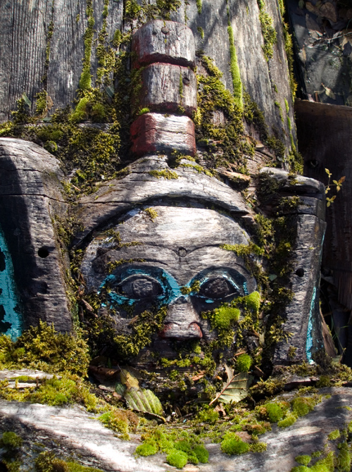 old totem, Saxman, Alaska