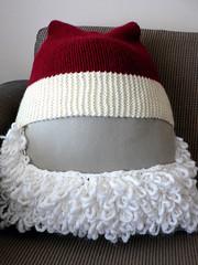 Santa Hat for Motorbike Helmet (Front)