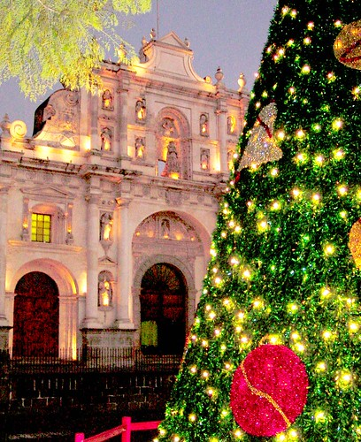 Antigua Guatemala Cathedral at Christmas