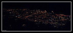 Livorno seen from northeast - Tight nightshot (Querce, Tuscany, Italy) Photo