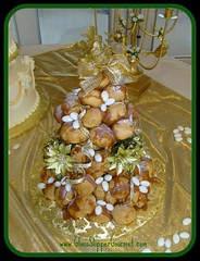 Croquembouche - For Robert and Rosalie's 50th Anniversary - Dec. 16, 2007 (Glass Slipper Gourmet) Tags: traditional 50thanniversary goldenwedding croquembouche