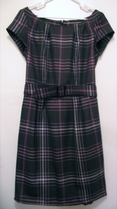 Completed Plaid Dress