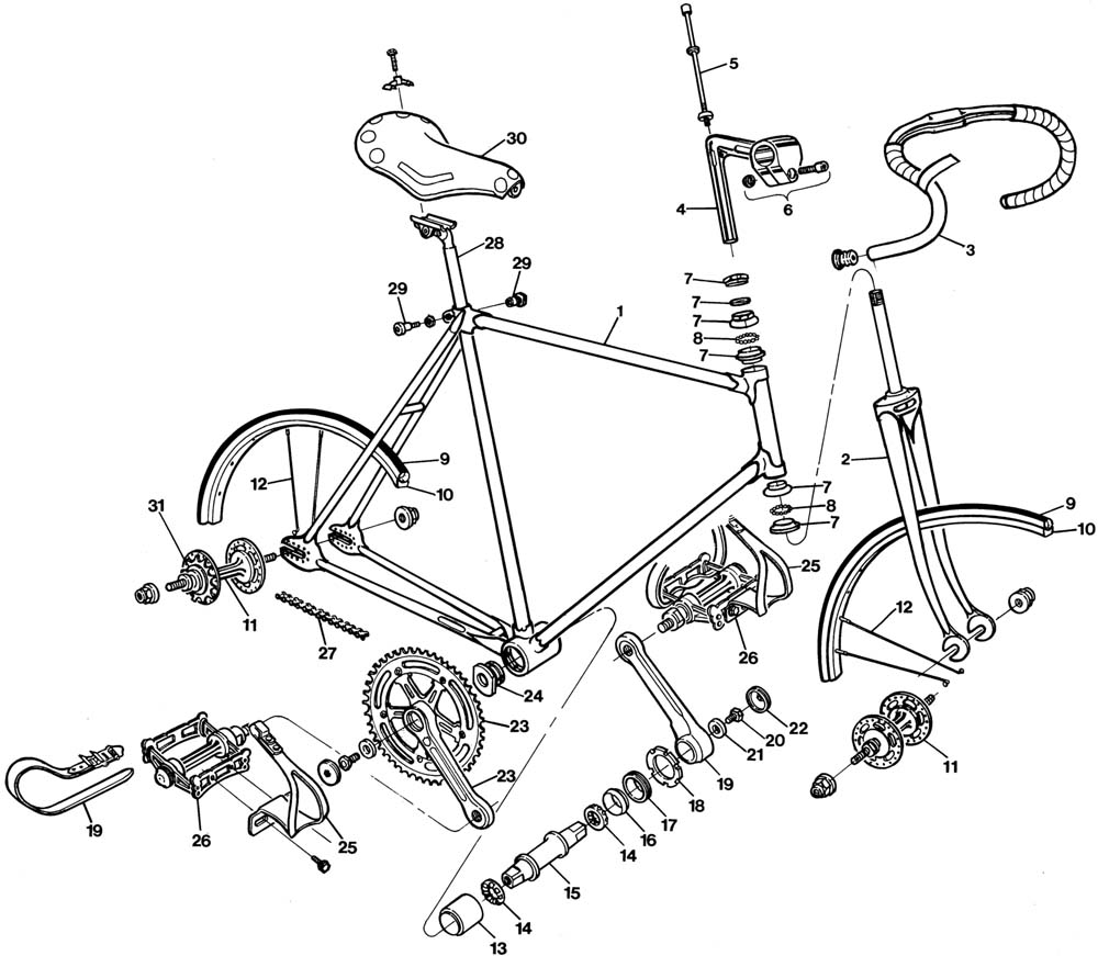 fixie drawing tattoo Only