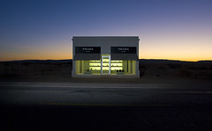 Prada Marfa (Noel Kerns) Tags: night texas dusk prada marfa simplyperfect