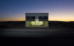 Prada Marfa (Noel Kerns) Tags: night texas dusk prada marfa simplyperfect