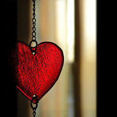 Unchain My Heart (EARTH 2015) Tags: red stilllife black love glass closeup dark heart chain challengeyouwinner cywinner anawesomeshot brillianteyejewel earth2015
