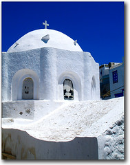 Chora, Naxos, Cyclades, Greece (jesssie) Tags: blue architecture island colours aegean culture churches greece greekislands chora cyclades naxos blueandwhite ellas goldenglobe   churchsteeples aplusphoto superbmasterpiece