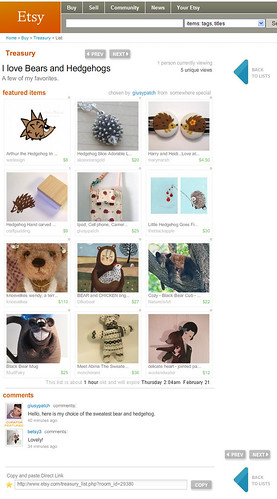 etsy treasury, 2008-feb-18