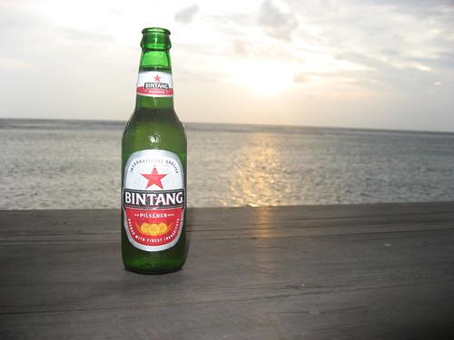 Gili T sunset with a Bintang