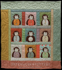 Monkey Quilt 2 (PatchworkPottery) Tags: monkey quilt handmade sewing crafts country patchwork applique babyfeltbuttons