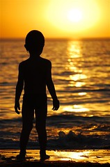 Day 77 - Project 365 - 17th Mar 08 -  THE BOY & SOMERTON SUNSET (Shai Coggins) Tags: life boy sunset sun beach sillhouette somerton project365