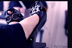 I base my fashion sense on what doesn't itch (Weda3eah*) Tags: black fashion by shoe doesnt what heels base itch qatar sense highe selver i weda3eah
