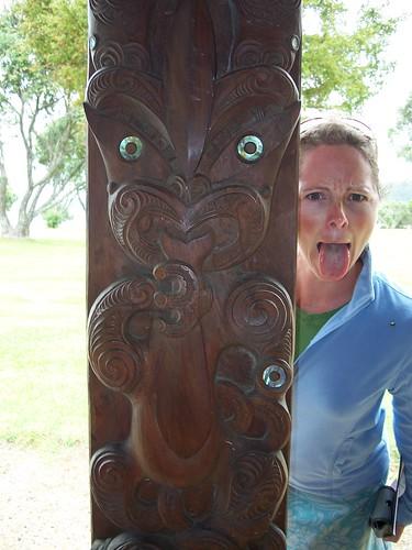 Waitangi Treaty Grounds haka practice