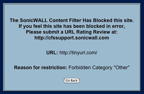 Blocked TinyURL